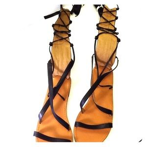 Shoes - Gladiator Long Strappy Sandals EUR40